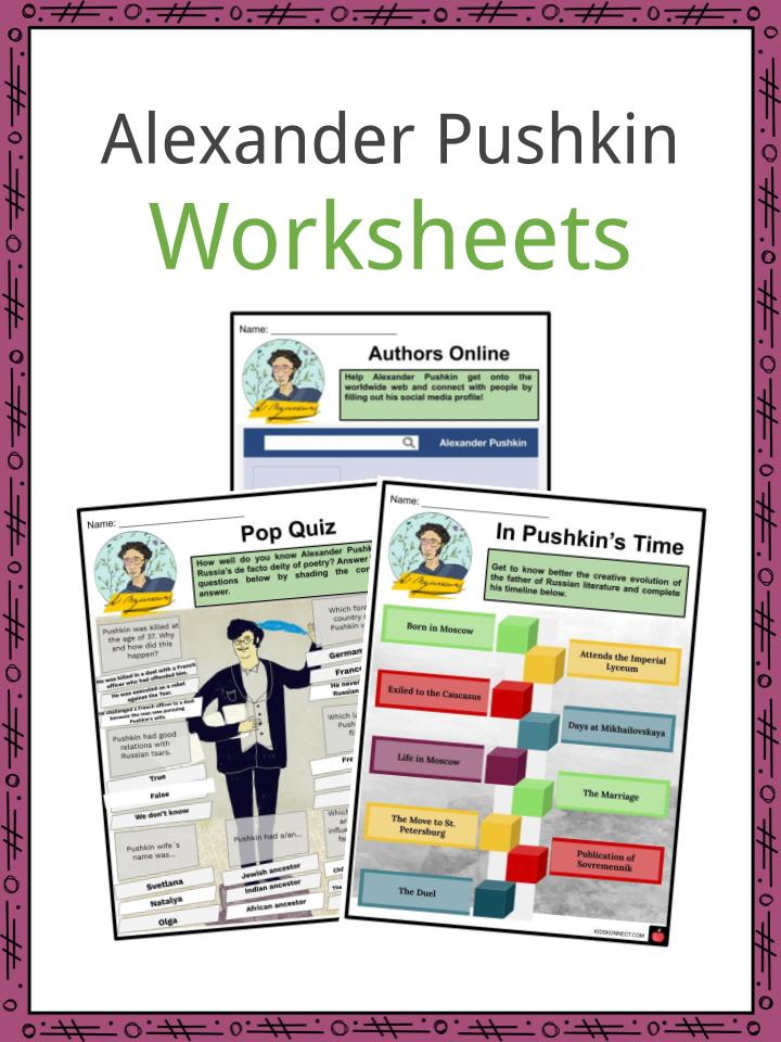 Alexander Pushkin Worksheets