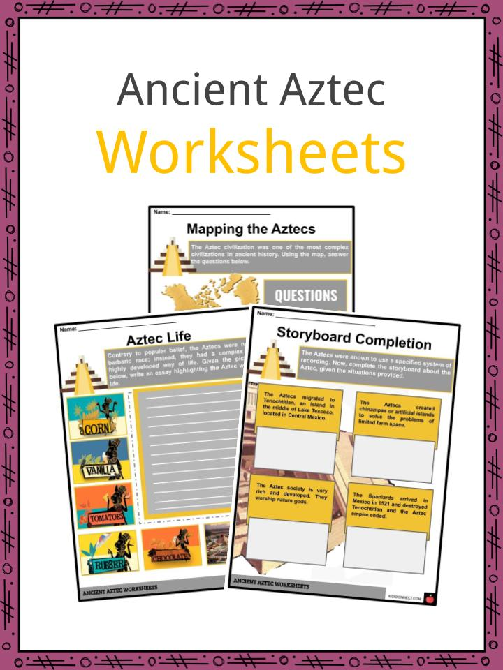 Ancient Aztec Worksheets