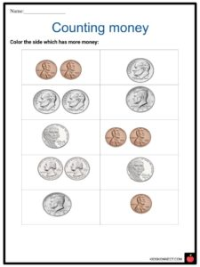 counting money worksheets important coins bills summary
