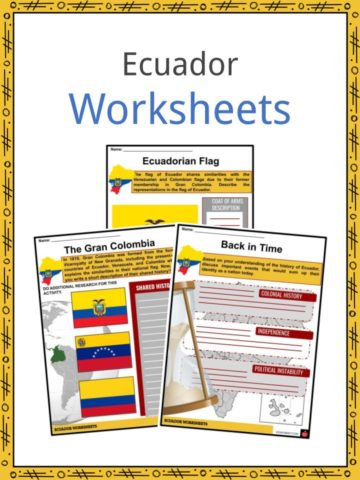 Ecuador Worksheets