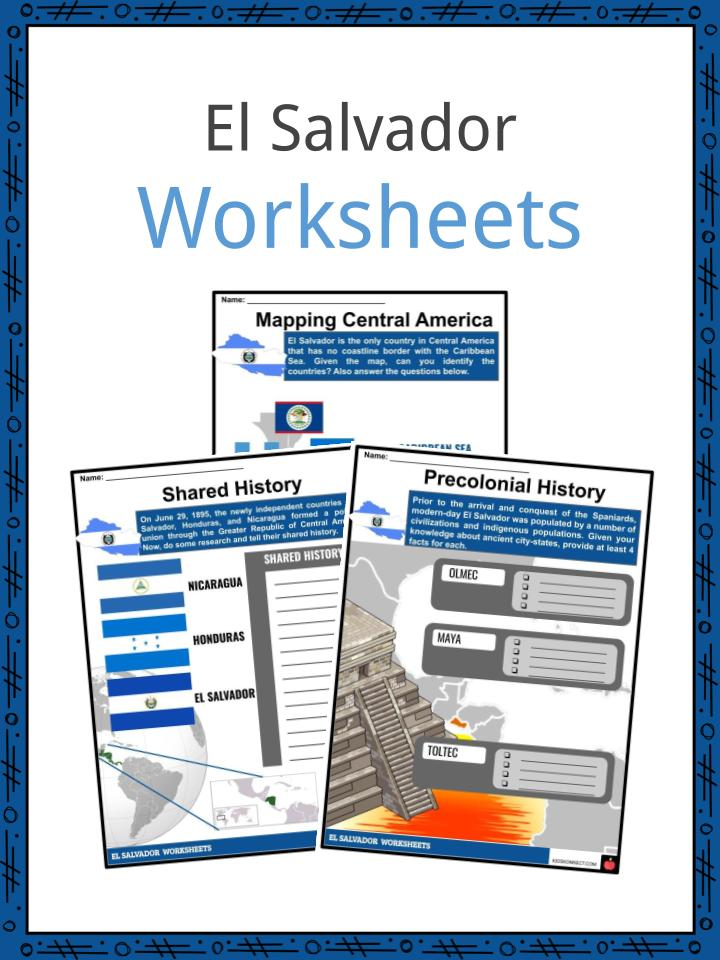 El Salvador Worksheets