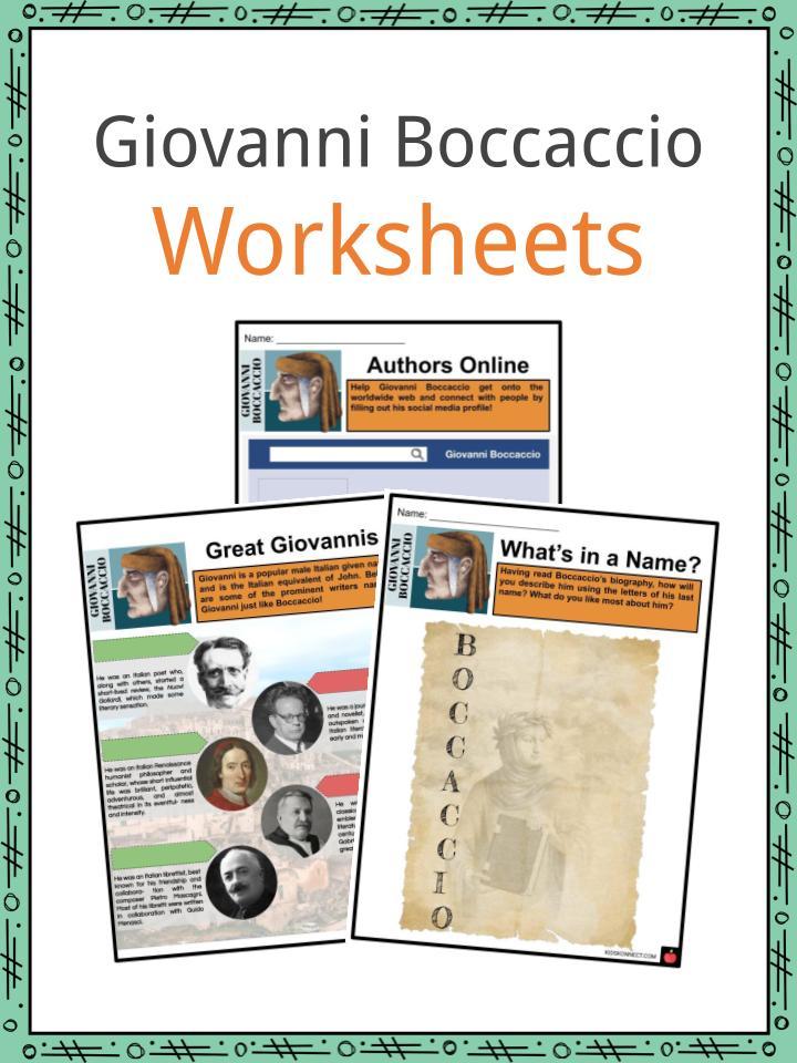 Giovanni Boccaccio Worksheets