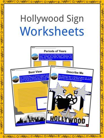 Hollywood Sign Worksheets