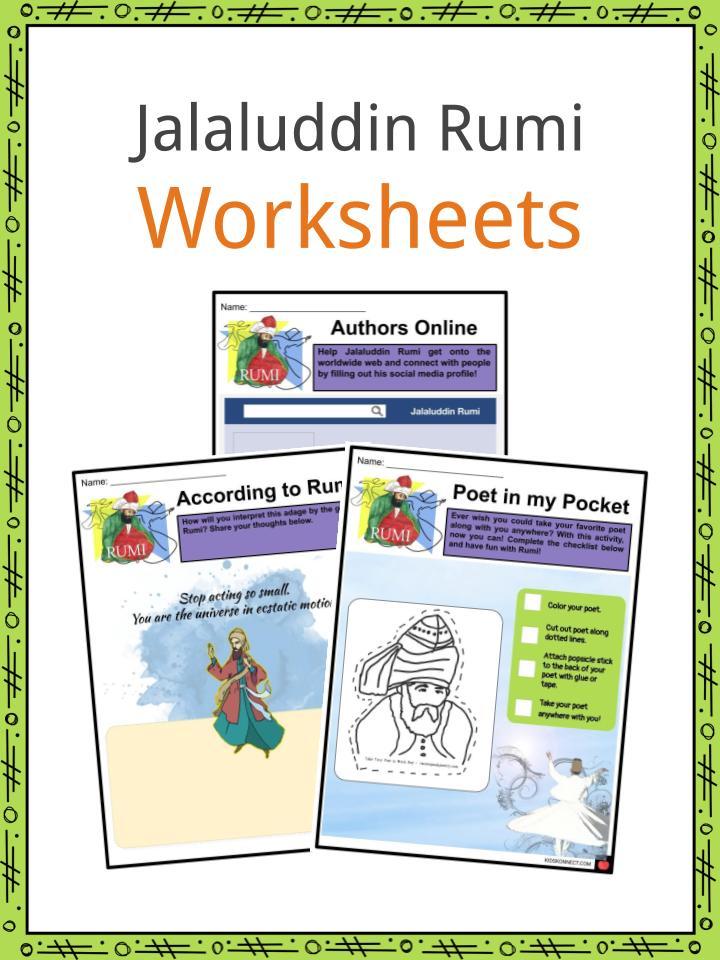Jalaluddin Rumi Worksheets