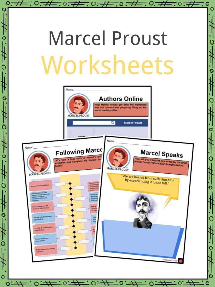 Marcel Proust Worksheets