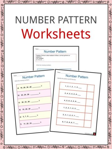 Number Pattern Worksheets