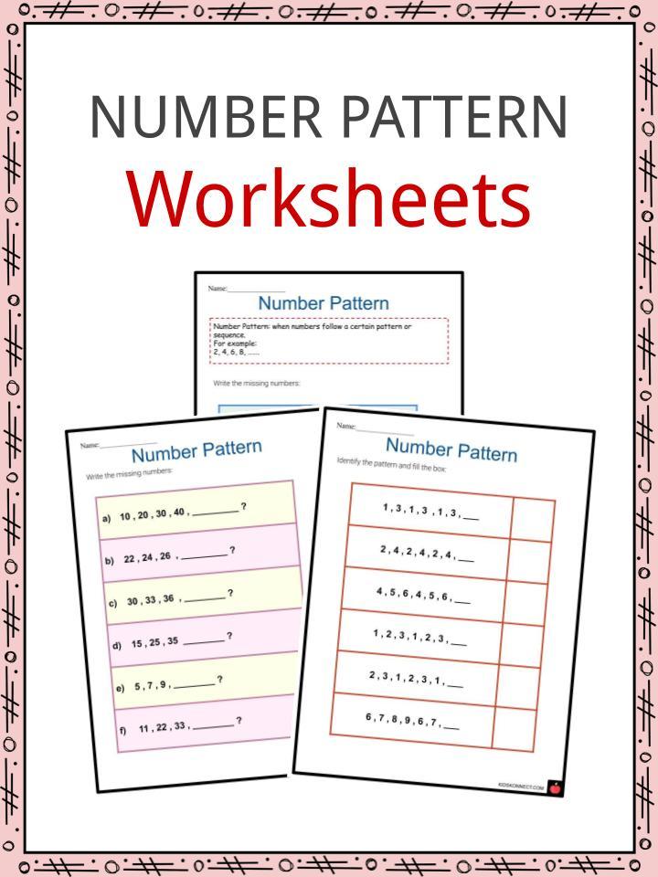 Number Pattern Worksheets