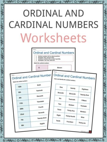 Ordinal and Cardinal Numbers Worksheets