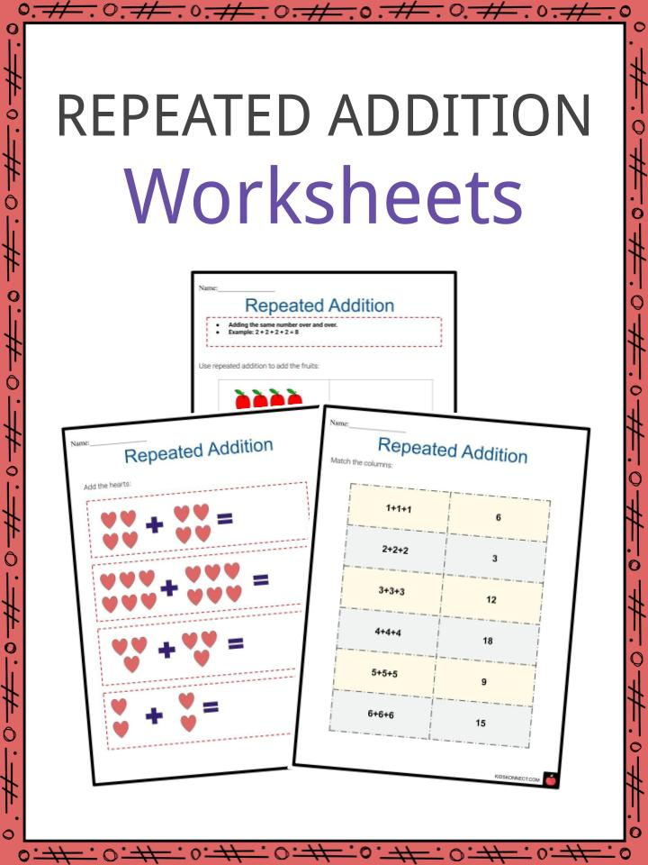 Repeated Addition Worksheets