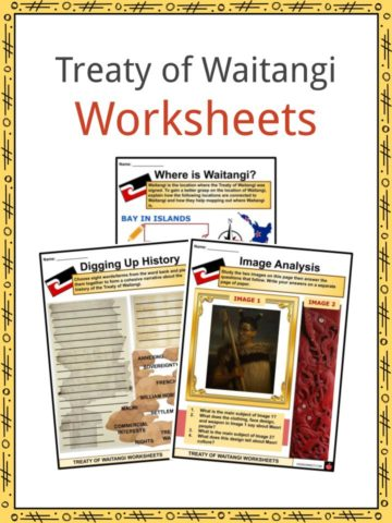 Treaty of Waitangi Worksheets