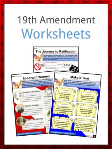 19th Amendment Worksheets