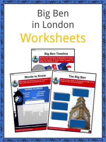 Big Ben in London Worksheets