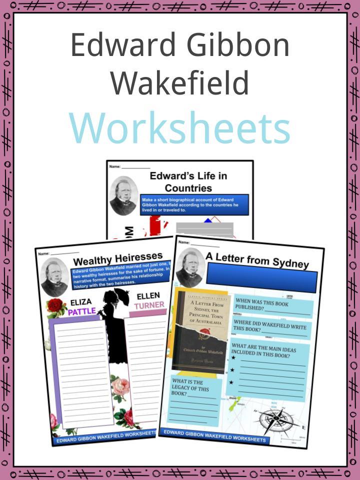 Edward Gibbon Wakefield Worksheets
