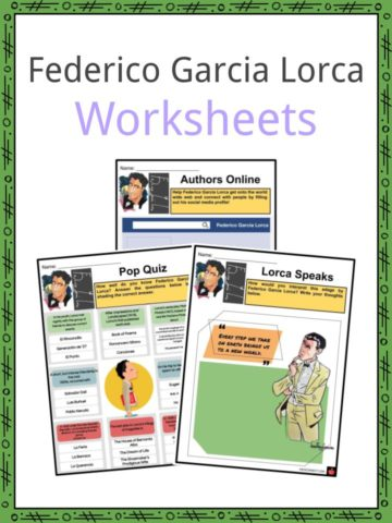 Federico Garcia Lorca Worksheets