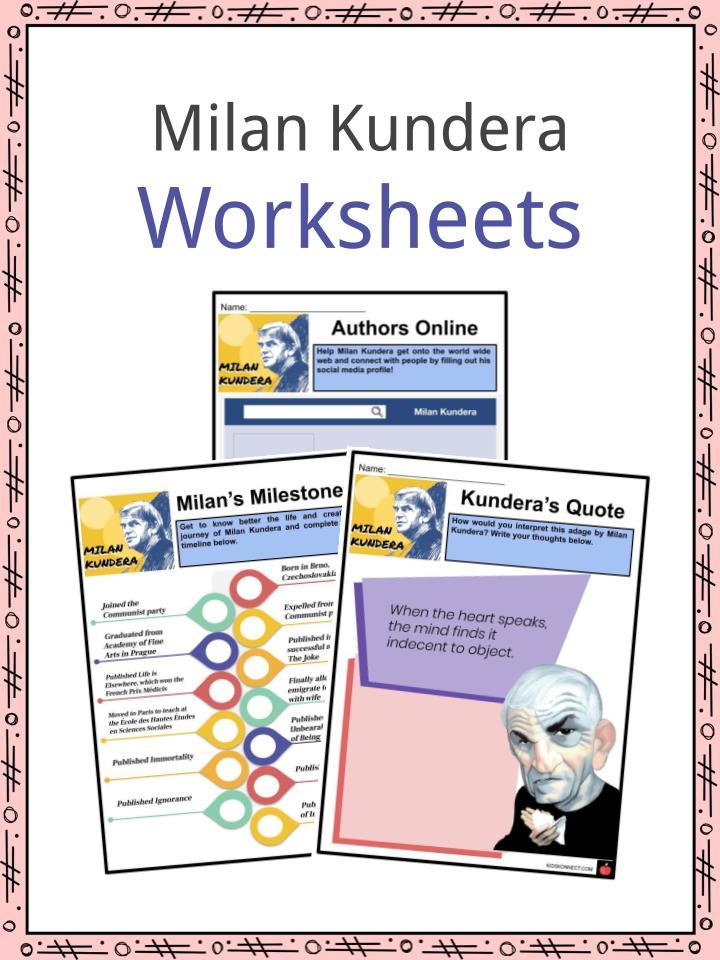 Milan Kundera Worksheets