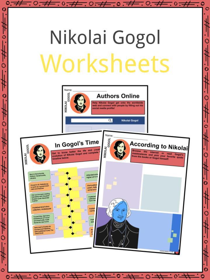 Nikolai Gogol Worksheets