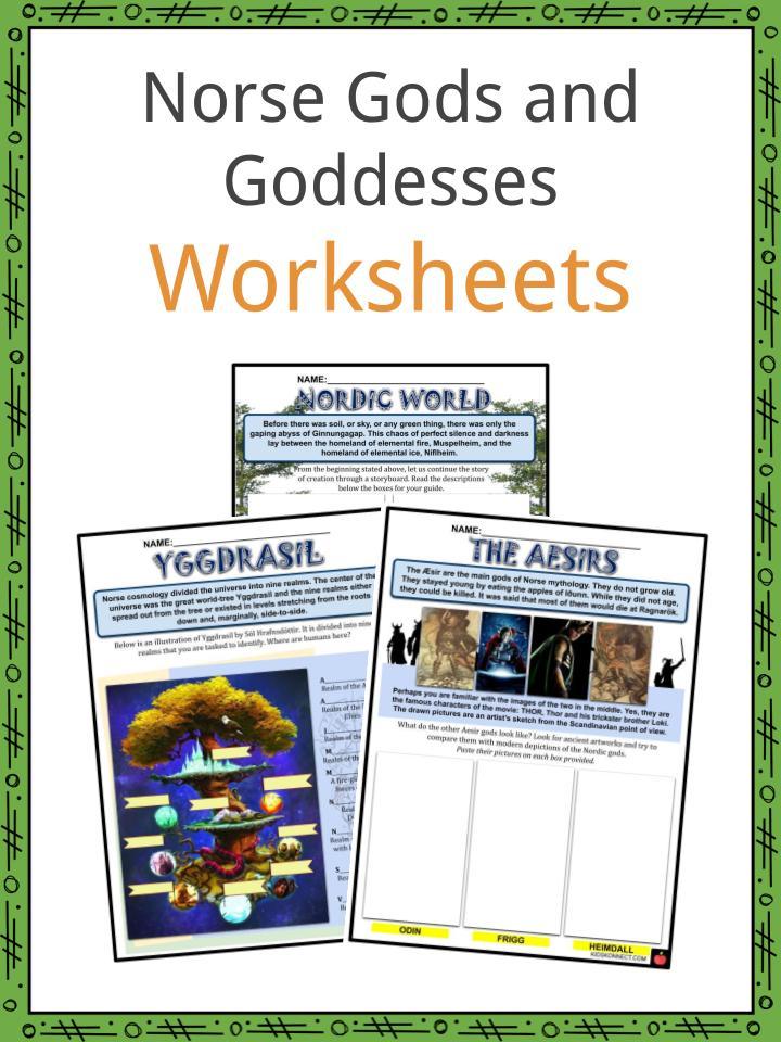 Norse Gods and Goddesses Facts, Worksheets & The Mythology