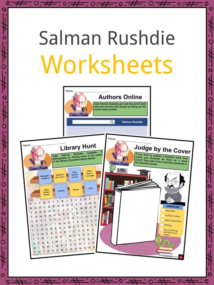 Salman Rushdie Worksheets