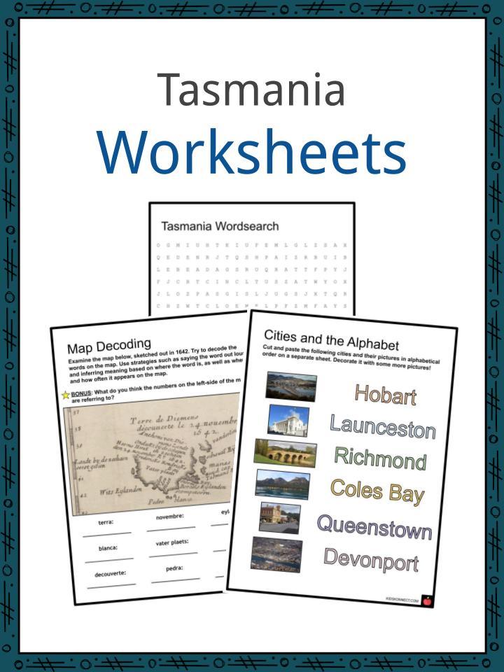 Tasmania Worksheets