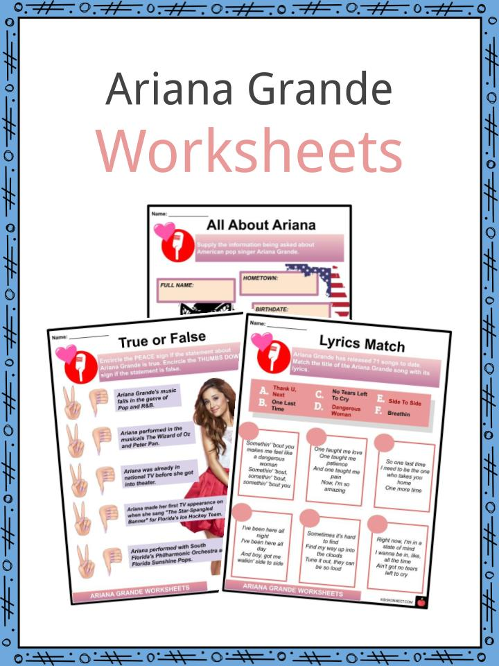 Ariana Grande Worksheets