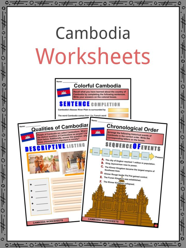Cambodia Worksheets