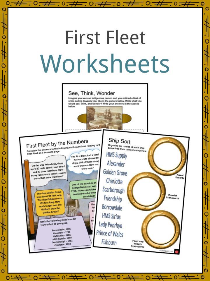 First Fleet Worksheets