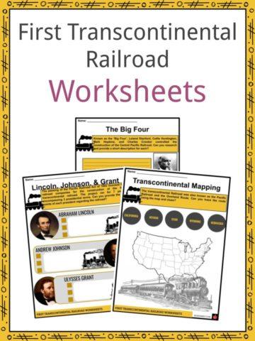 First Transcontinental Railroad Worksheets