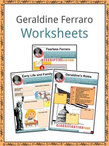 Geraldine Ferraro Worksheets