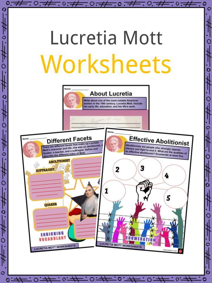 Lucretia Mott Worksheets