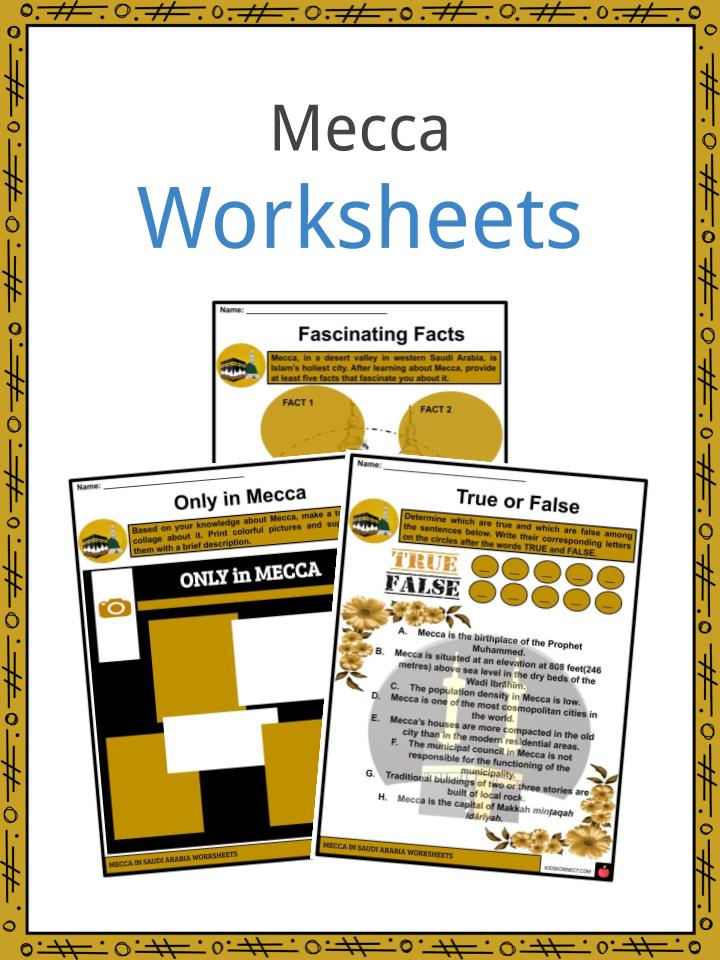 Mecca Worksheets