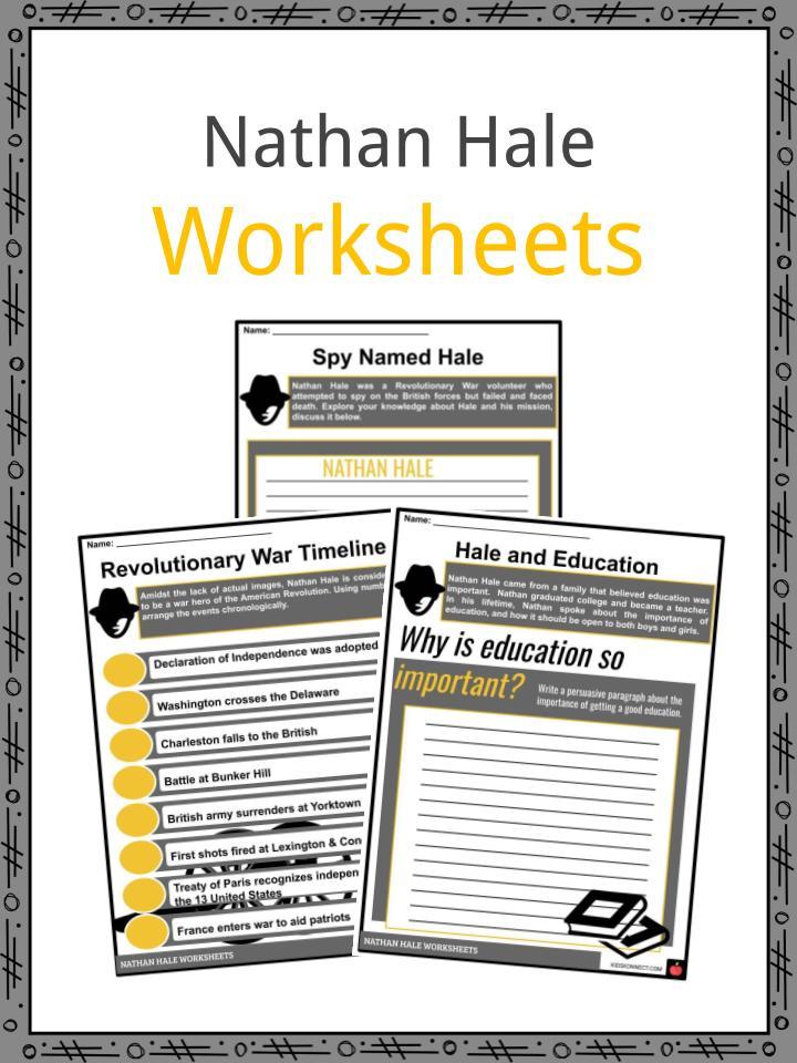 Nathan Hale Worksheets