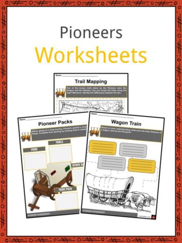 Pioneers Worksheets