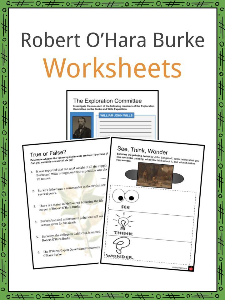 Robert O'Hara Burke Worksheets