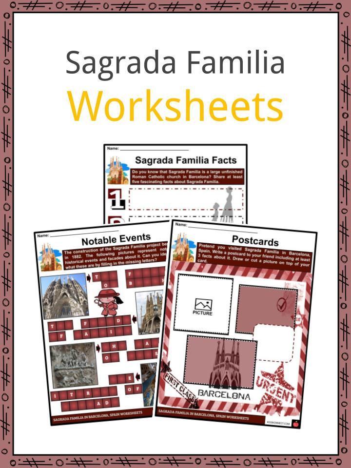 Sagrada Familia Worksheets