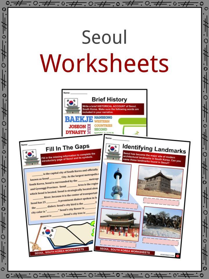 Seoul Worksheets