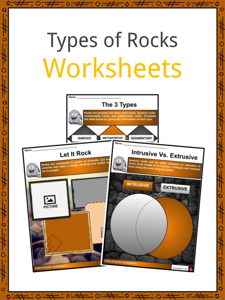 Types of Rocks Worksheeets