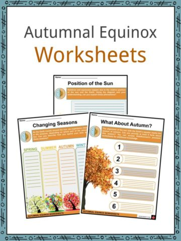 Autumnal Equinox Worksheets