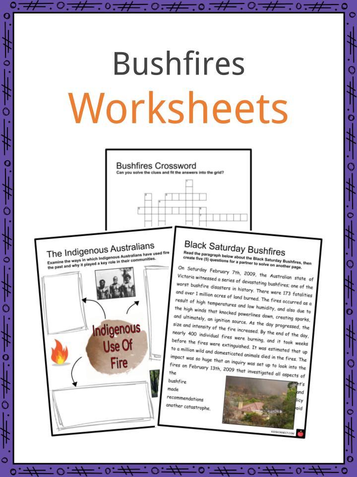 Bushfires Worksheets
