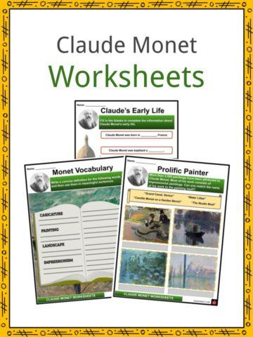 Claude Monet Worksheets