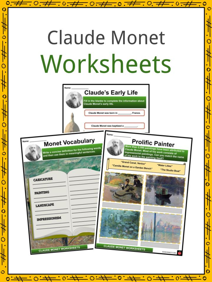 Claude Monet Facts, Worksheets, Early Life & Monet in Paris