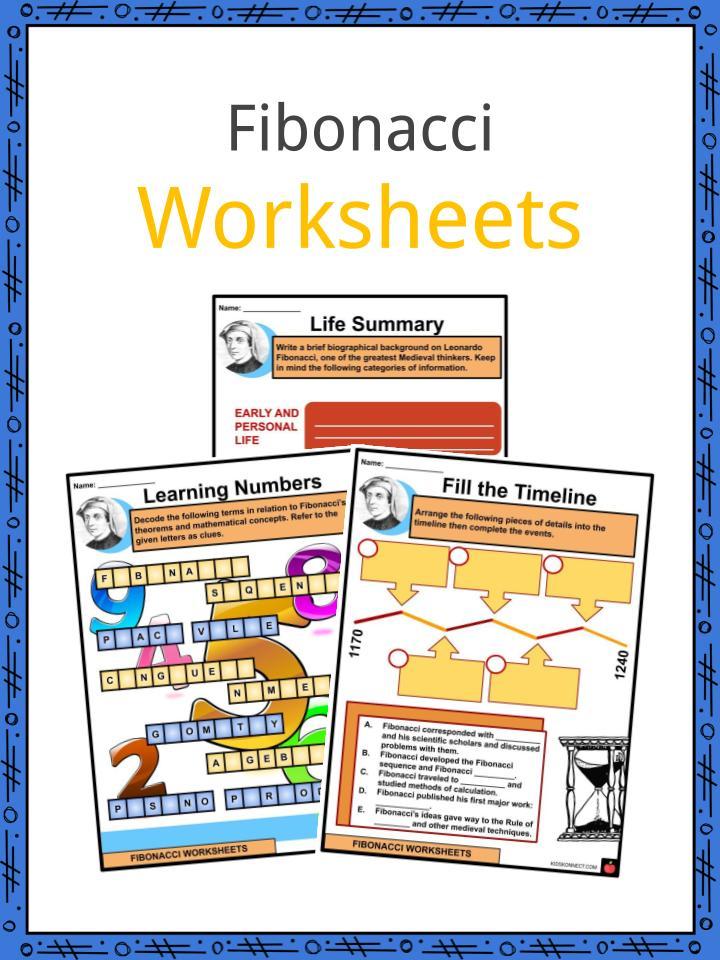 Fibonacci Worksheets