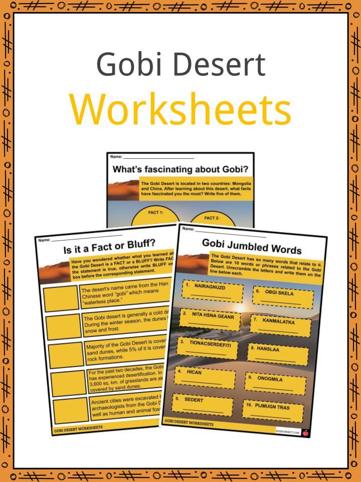 Gobi Desert Worksheet