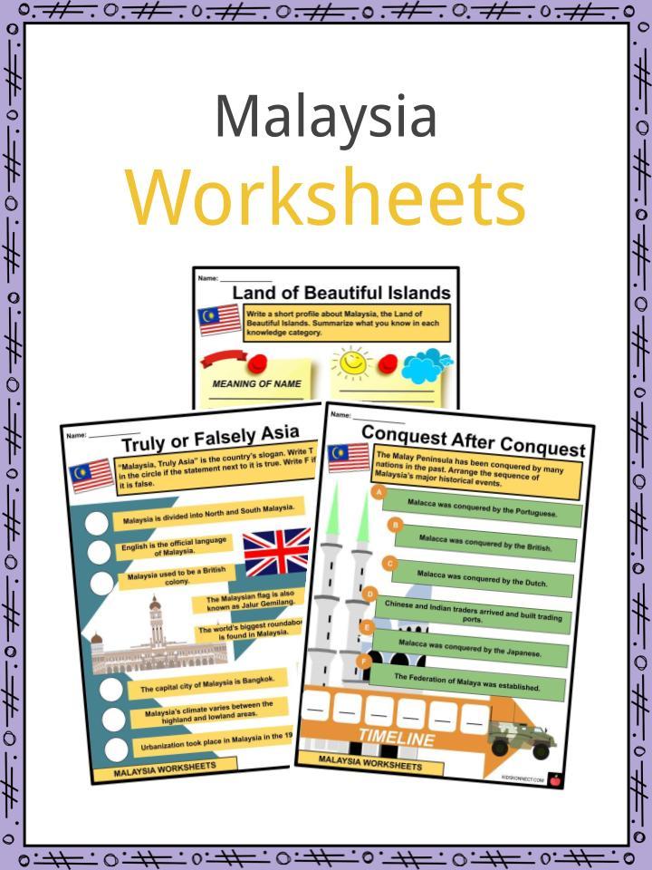 Malaysia Worksheets