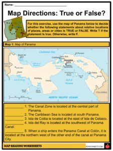 Map Reading Facts, Worksheets & Elelments in a Map For Kids