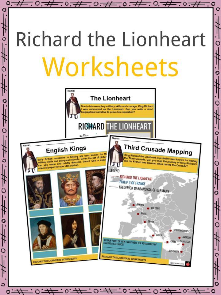 Richard the Lionheart Worksheets