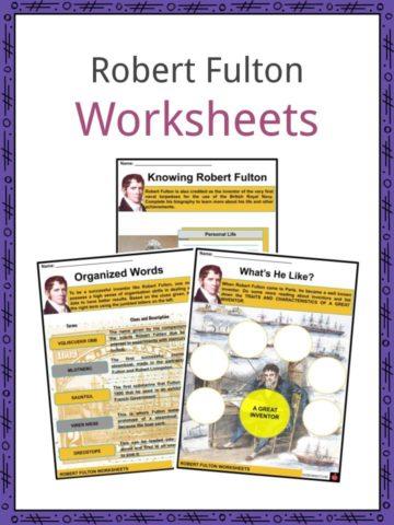 Robert Fulton Worksheets
