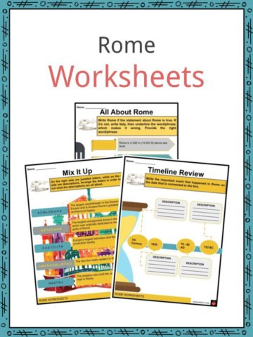 Rome Worksheets