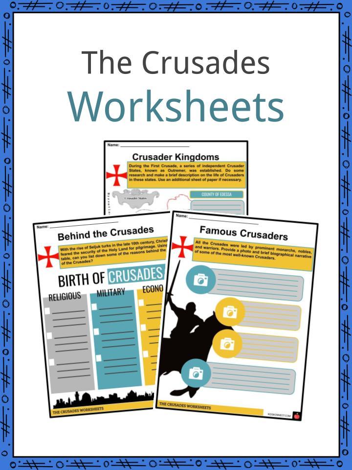 The Crusades Worksheets