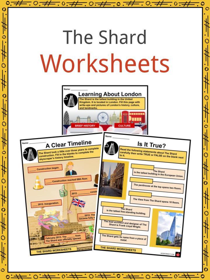 The Shard Worksheets