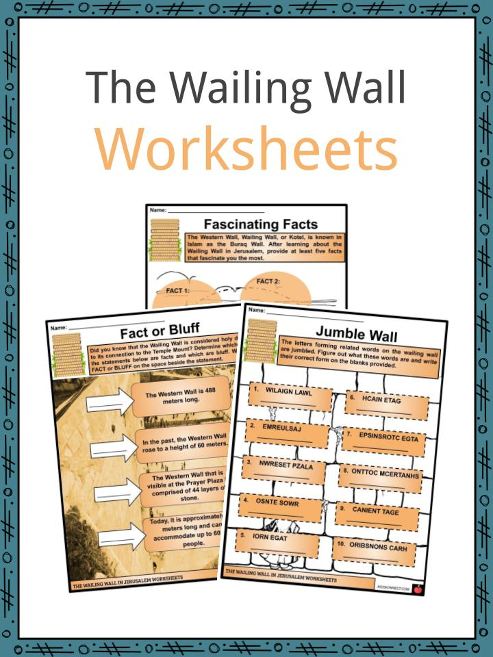 The Wailing Wall Worksheets